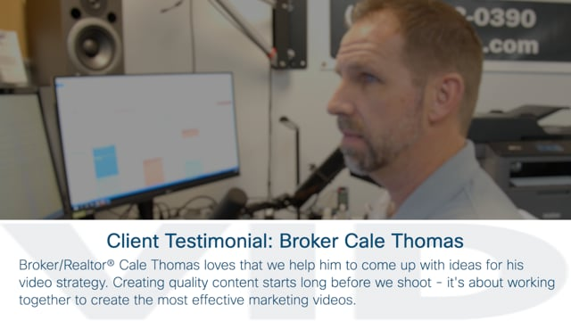 Client Testimonial: Broker/Realtor® Cale Thomas