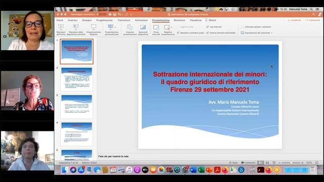 29/09/2021 - LA SOTTRAZIONE INTERNAZIONALE DI MINORE GLI STRUMENTI A DISPOSIZIONE