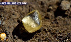 Woman Finds Yellow Diamond in Arkansas Park