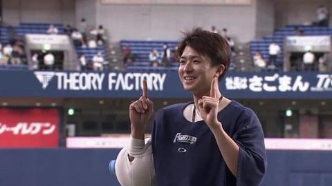 ファイターズ・上沢直之投手ヒーローインタビュー 10月6日 オリックス・バファローズ 対 北海道日本ハムファイターズ