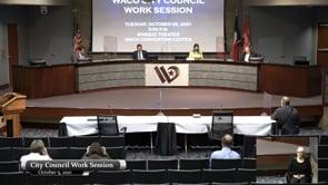 Work Session October 5, 2021