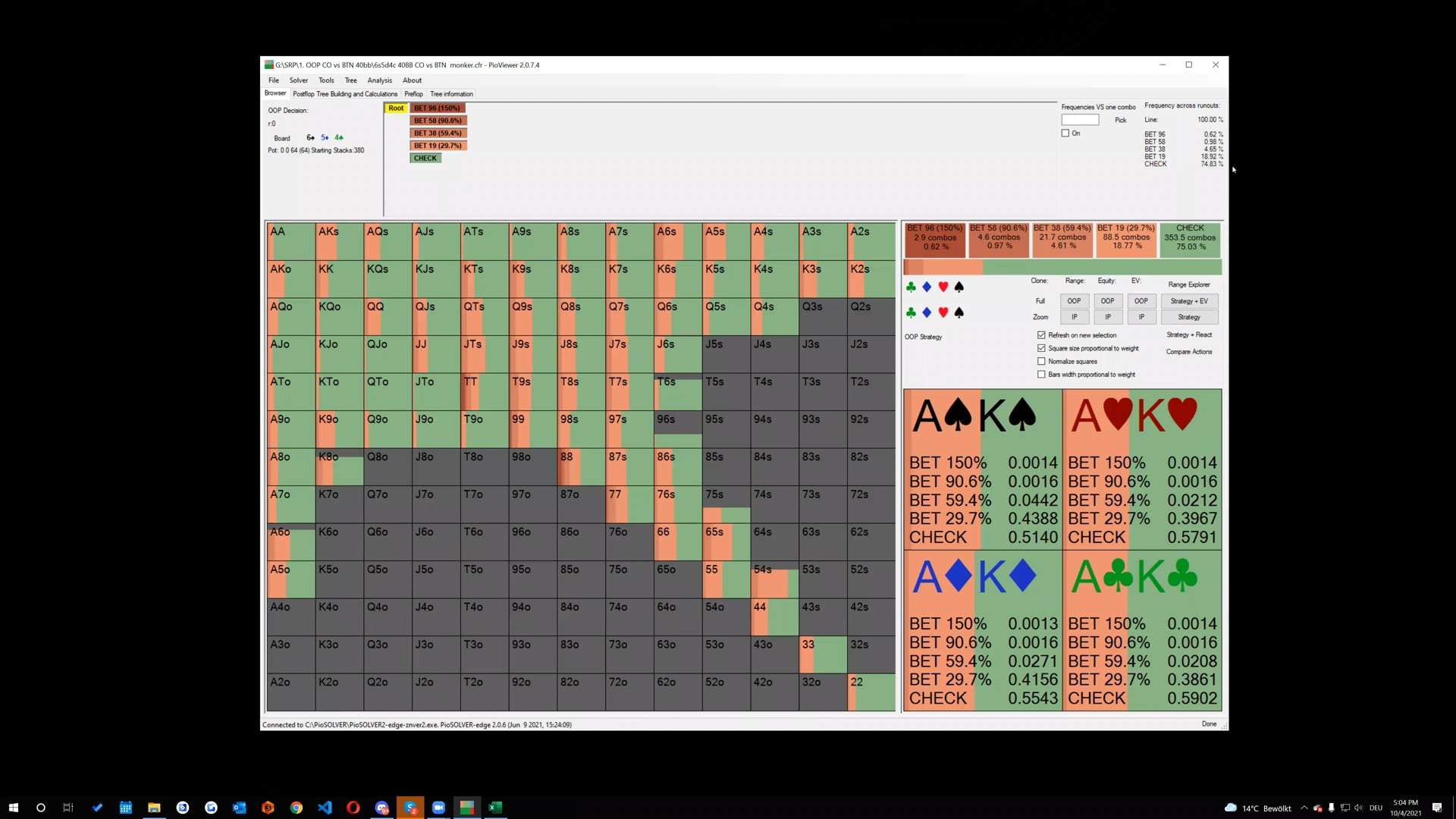 2021_10_04 - Spades - Playing CO vs BTN OOP Part 2