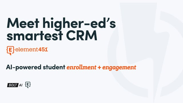 The Smartest Higher Ed CRM - Element451