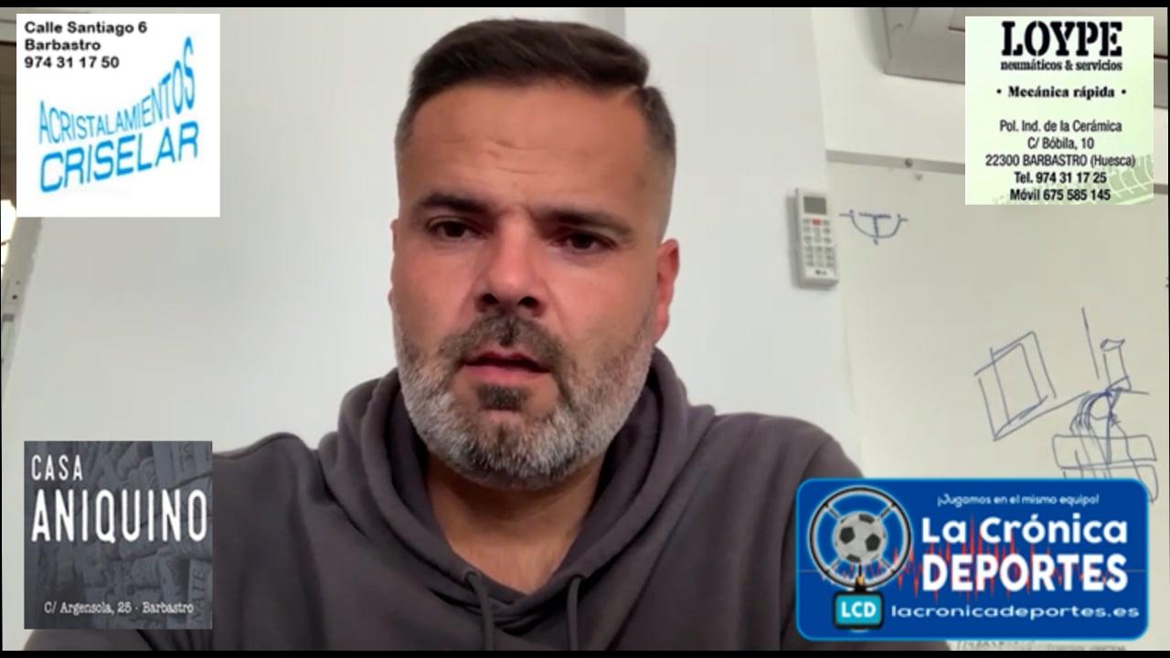 MOISÉS GUTIÉRREZ (Entrenador Sariñena) Sariñena 2-1 Jacetano / J4 / Preferente Gr1