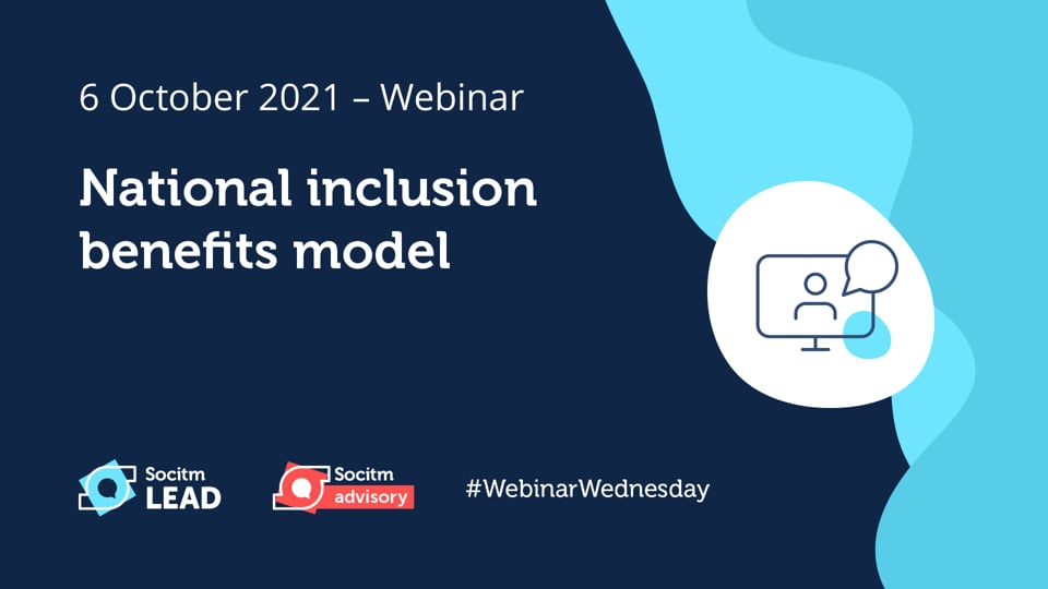 Webinar Wednesday - National inclusion benefits model - 6th Oct 2021