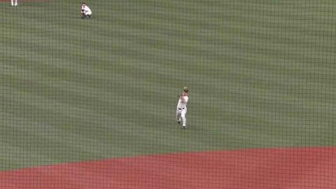 【6回表】バファローズ・中川圭太・紅林弘太郎が見事な中継プレーで本塁生還を阻止する!! 2021年10月7日 オリックス・バファローズ 対 北海道日本ハムファイターズ
