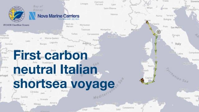 IFCHOR ClearBlue Oceans is Excited to Announce  the First Carbon Neutral Short-sea Dry Voyage!