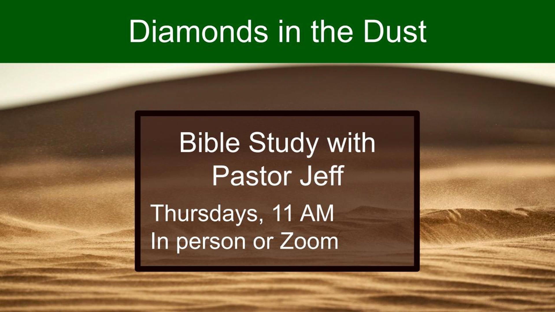 Diamonds in the Dust Week 2