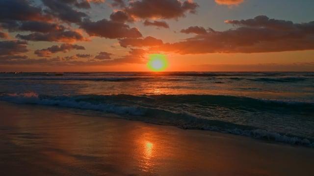 4K Caribbean Sea Sunrise, Mexico