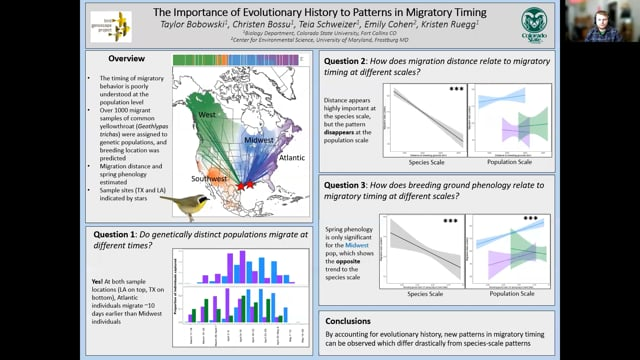Using genomics to assess patterns in the timing of migration in a migratory songbird