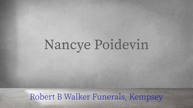 Nancye Poidevin