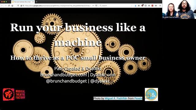 Run Your Business Like a Machine