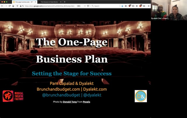 The One-Page Business Plan