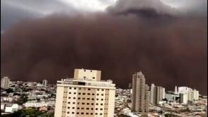 Brasile, spaventosa tempesta di sabbia nello Stato di San Paolo