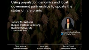 Using Population Genomics and Local Government Partnerships to Update the Conservation Status of Rare Plants throughout Pennsylvania