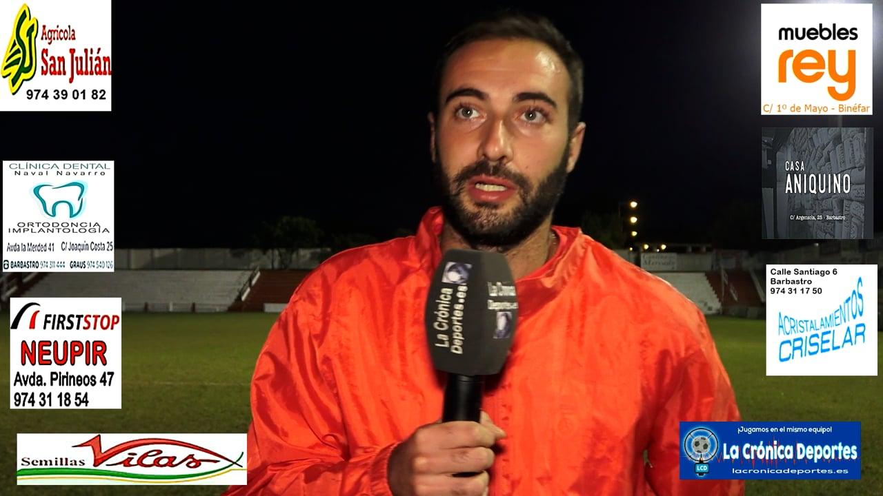 LA PREVIA / CF Calamocha - UD Barbastro / LUCAS ELBAILE (Jugador Barbastro) Jornada 6 / 3ª División