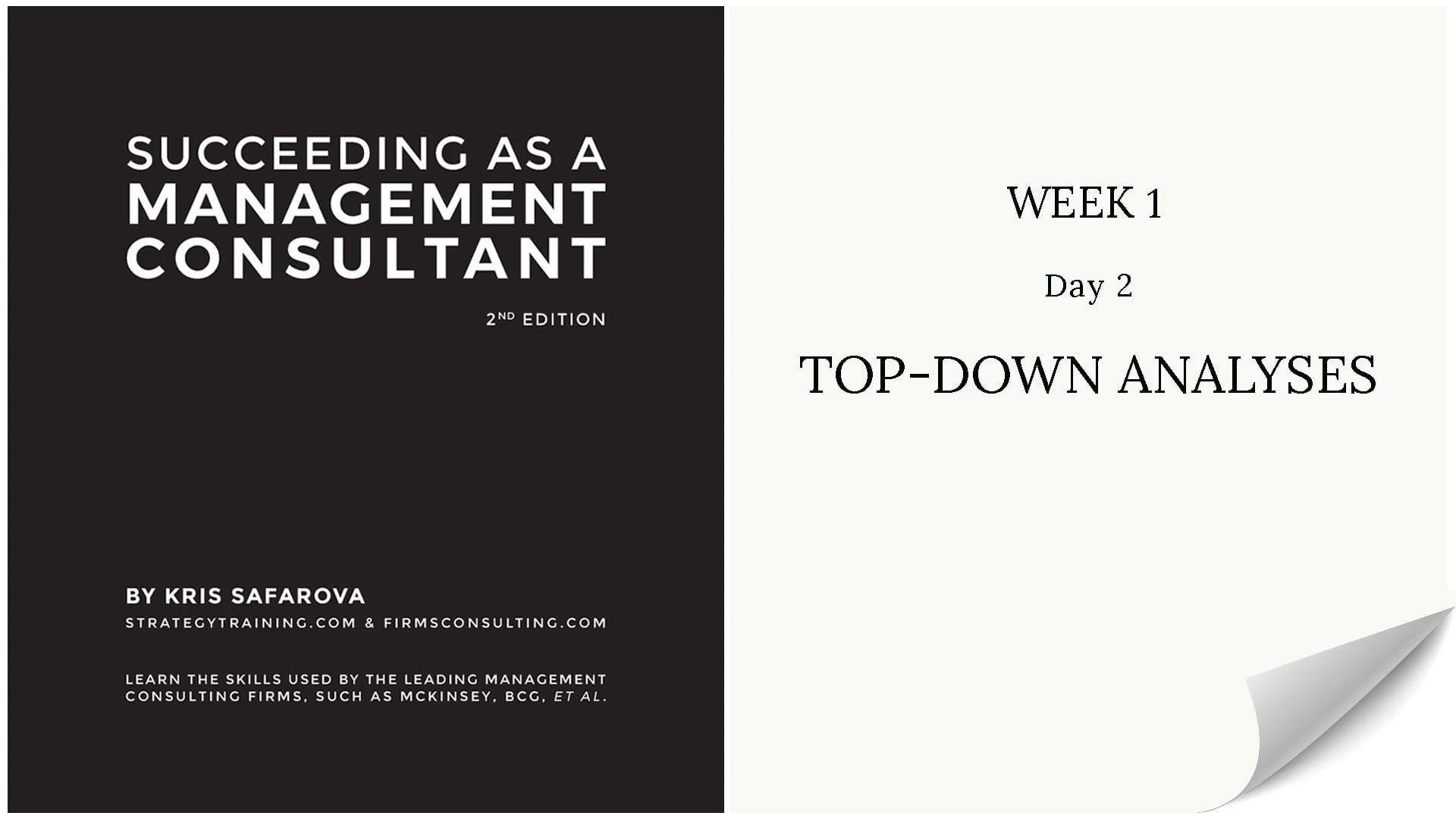008 SAAMC Week 1 - Day 2 Top-Down Ana...
