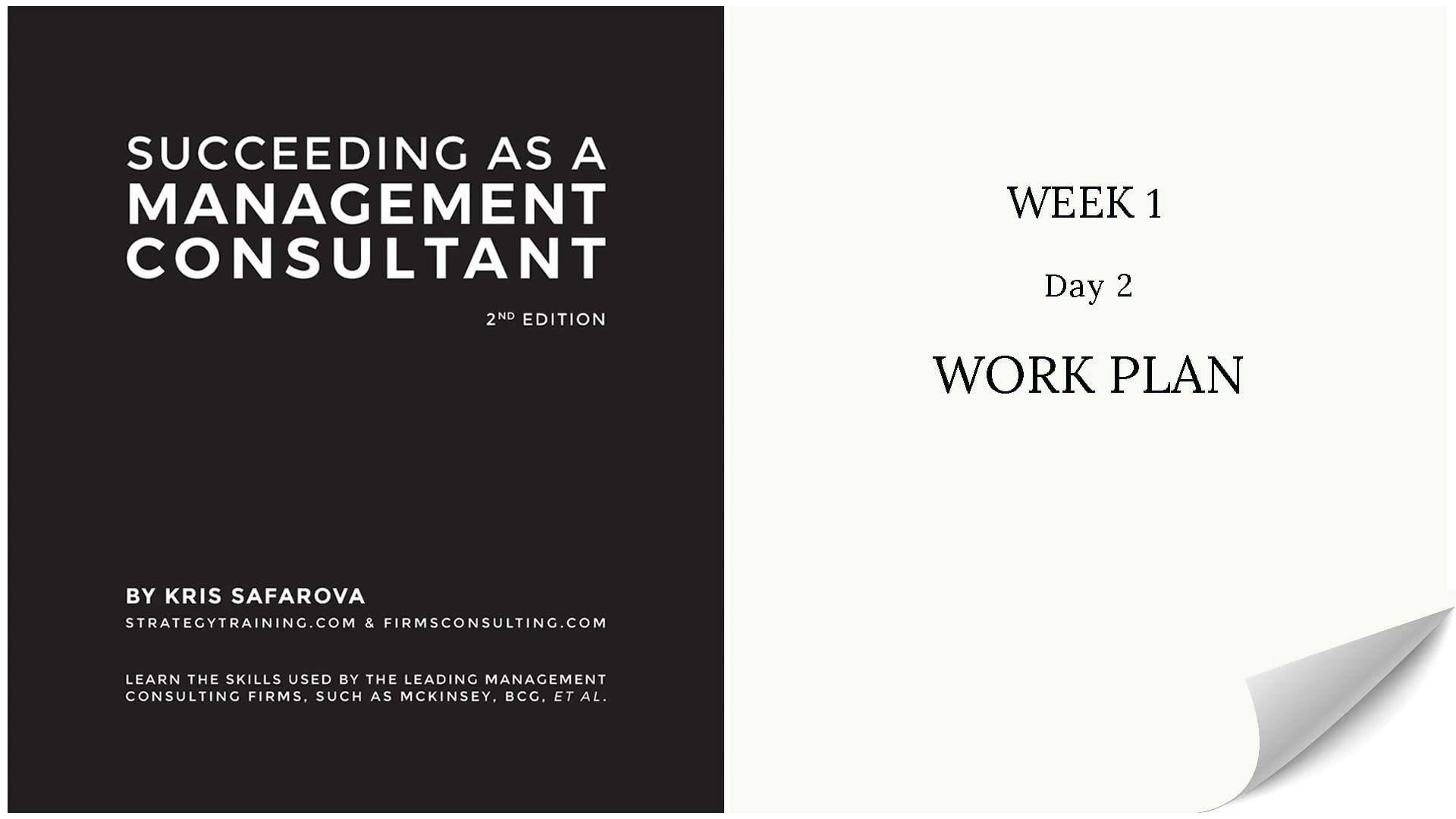 010 SAAMC Week 1 - Day 2 Work Plan