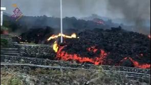 La Palma: le immagini della nuova colata lavica del vulcano Cumbre Vieja