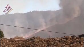 La Palma: il momento del crollo del fianco Nord del vulcano Cumbre Vieja