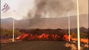 La Palma: la colata lavica del Cumbre Vieja avanza verso l'area industriale