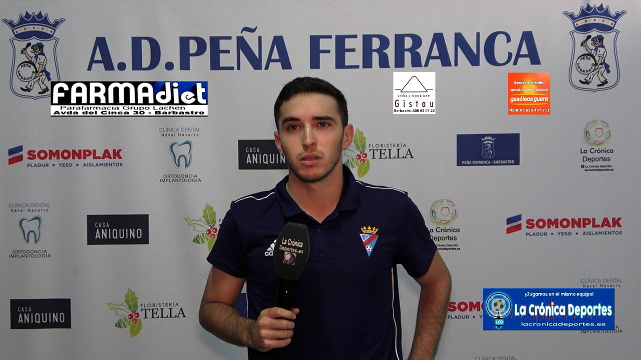 ALBERTO ISERN (Jugador Valdefierro) Peña Ferranca 1-2 CD Valdefierro / Jornada 5 / Preferente Gr 1