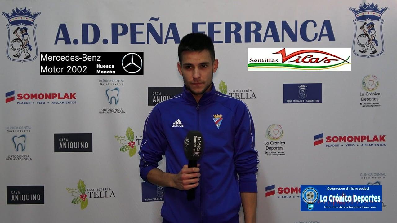 CARLOS URQUIZO (Jugador Valdefierro) Peña Ferranca 1-2 CD Valdefierro / Jornada 5 / Preferente Gr 1