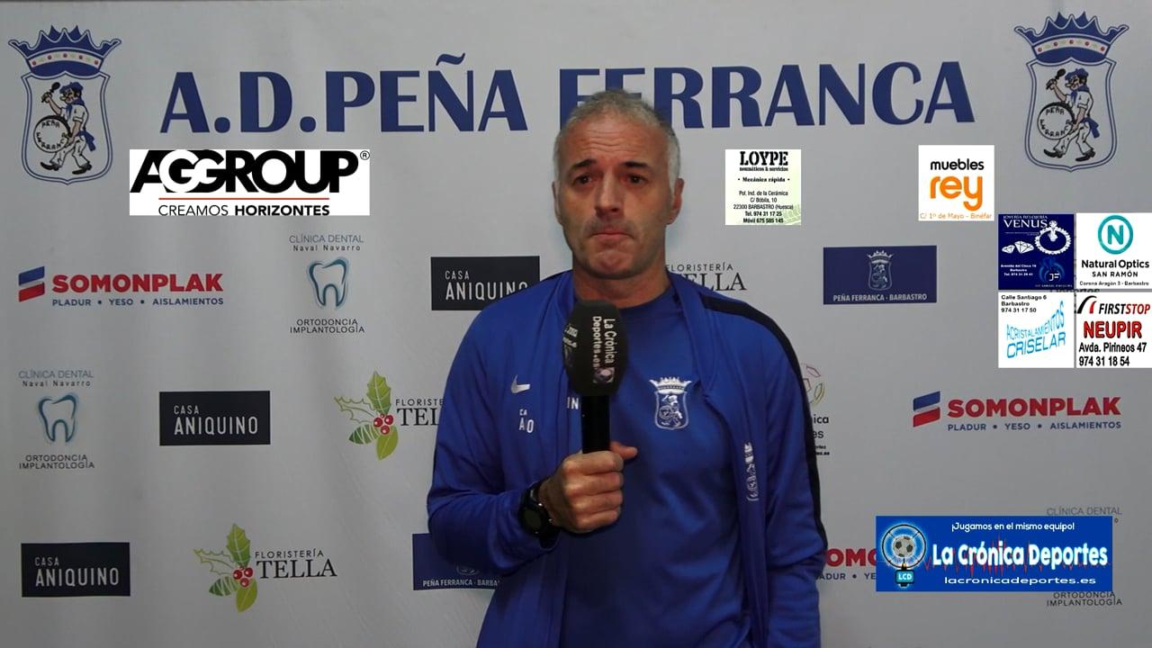 ALBERT MARTÍNEZ (Entrenador Ferranca) Peña Ferranca 1-2 CD Valdefierro / Jornada 5 / Preferente Gr 1