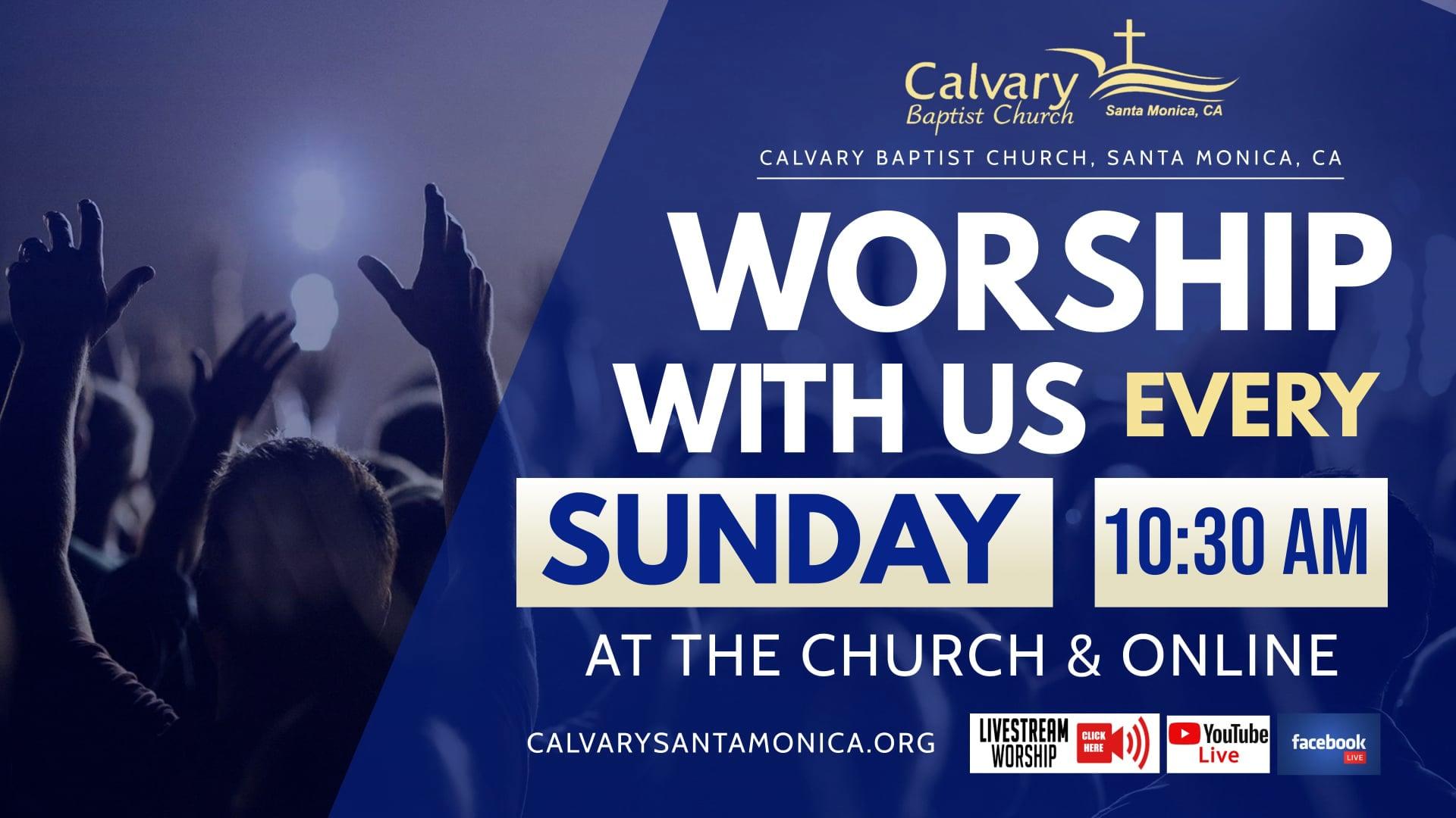 10.17.21 Calvary Baptist Church Worship Service