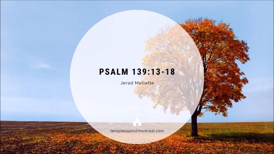 Psalm 139:13-18