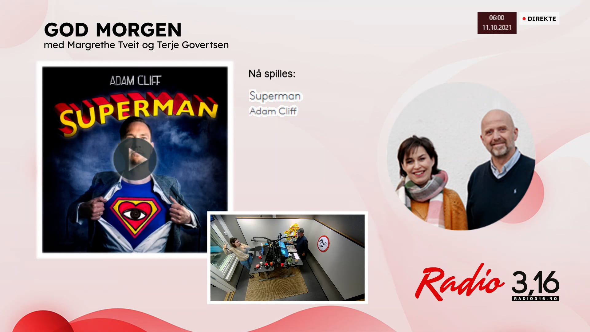 Radio 3,16 | 11 oktober 2021 - God Morgen med Margrethe og Terje