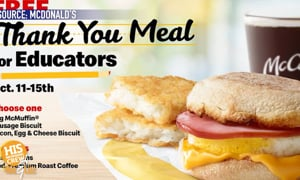 Teachers and Administrators Get Breakfast for FREE!