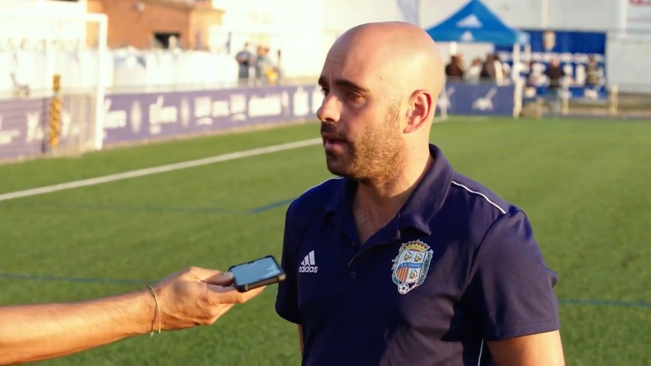 CARLOS GIL (Entrenador Caspe) CD Caspe 1-1 Deportivo Aragón / Jornada 6 / 3ª División / Fuente YouTube CD Caspe