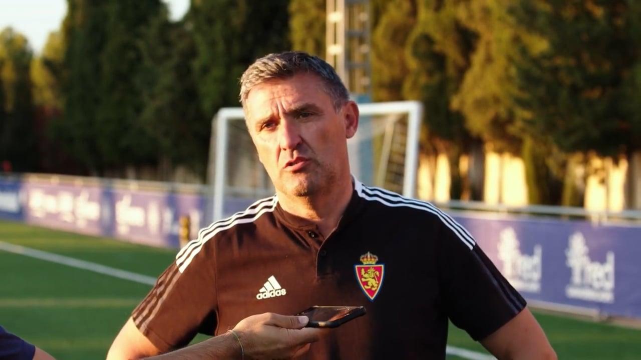 EMILIO LARRAZ (Entrenador Deportivo Aragón) CD Caspe 1-1 Deportivo Aragón / Jornada 6 / 3ª División / Fuente YouTube CD Caspe