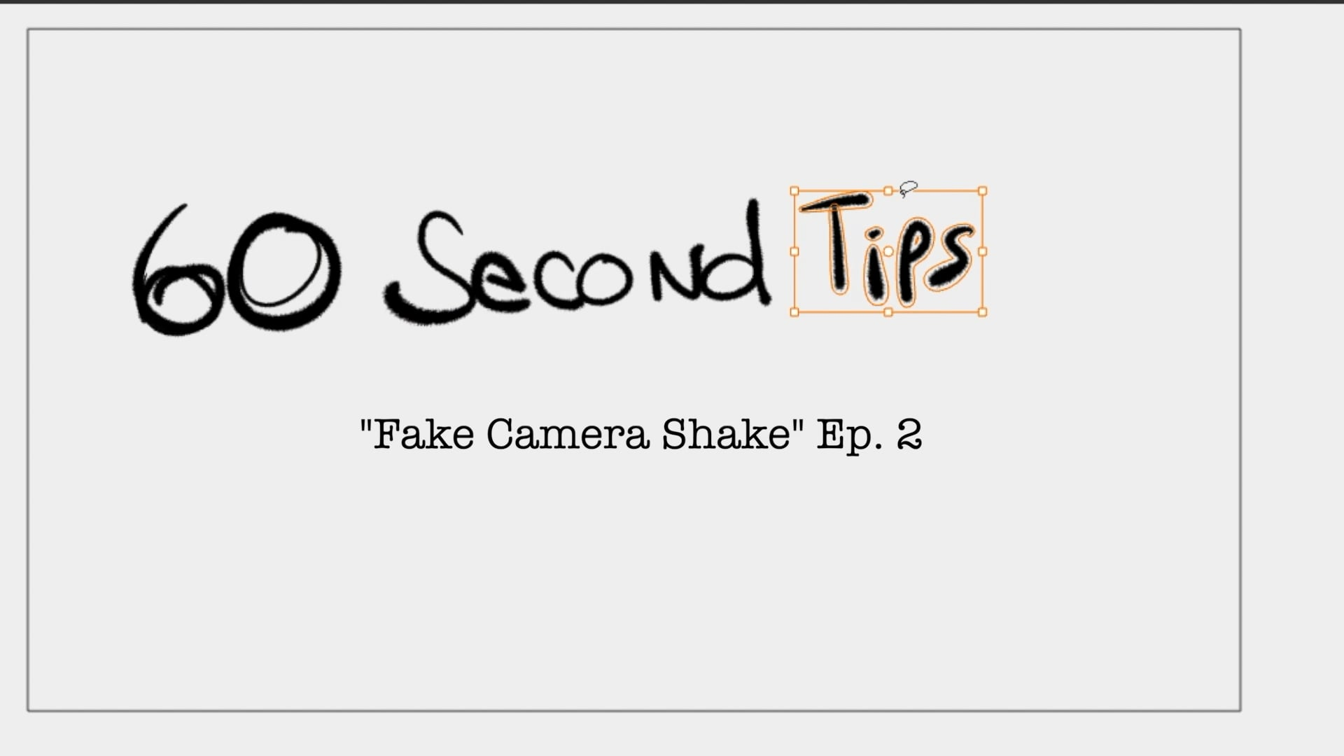 Ep 2 - Camera Shake
