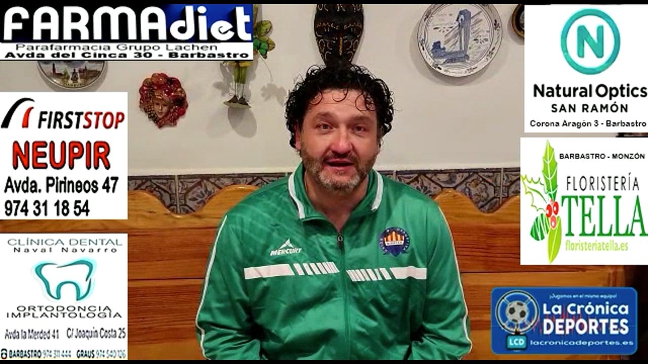 MIGUEL GARCÍA (Entrenador Biescas) CD Cuarte 2-0 UD Biescas / Jornada 6 / 3ª División