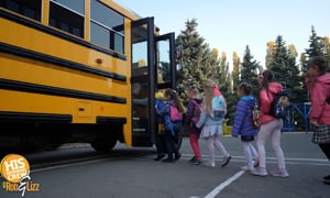 They took a LIMO to school!