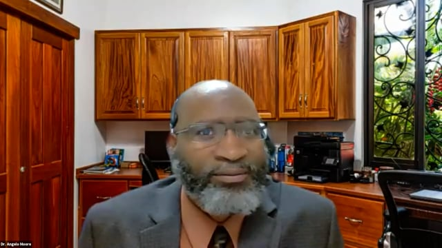 Angelo Moore, PhD, RN, NE-BC, Program Manager, Office of Health Equity, Duke Cancer Institute discusses the incorporation of the PHEN early detection screening program into the Community Outreach, Engagement, and Equity at Duke Cancer Institute