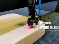 Lasertech CO2 Laser Cutter - Engraving Solid Wooden Block