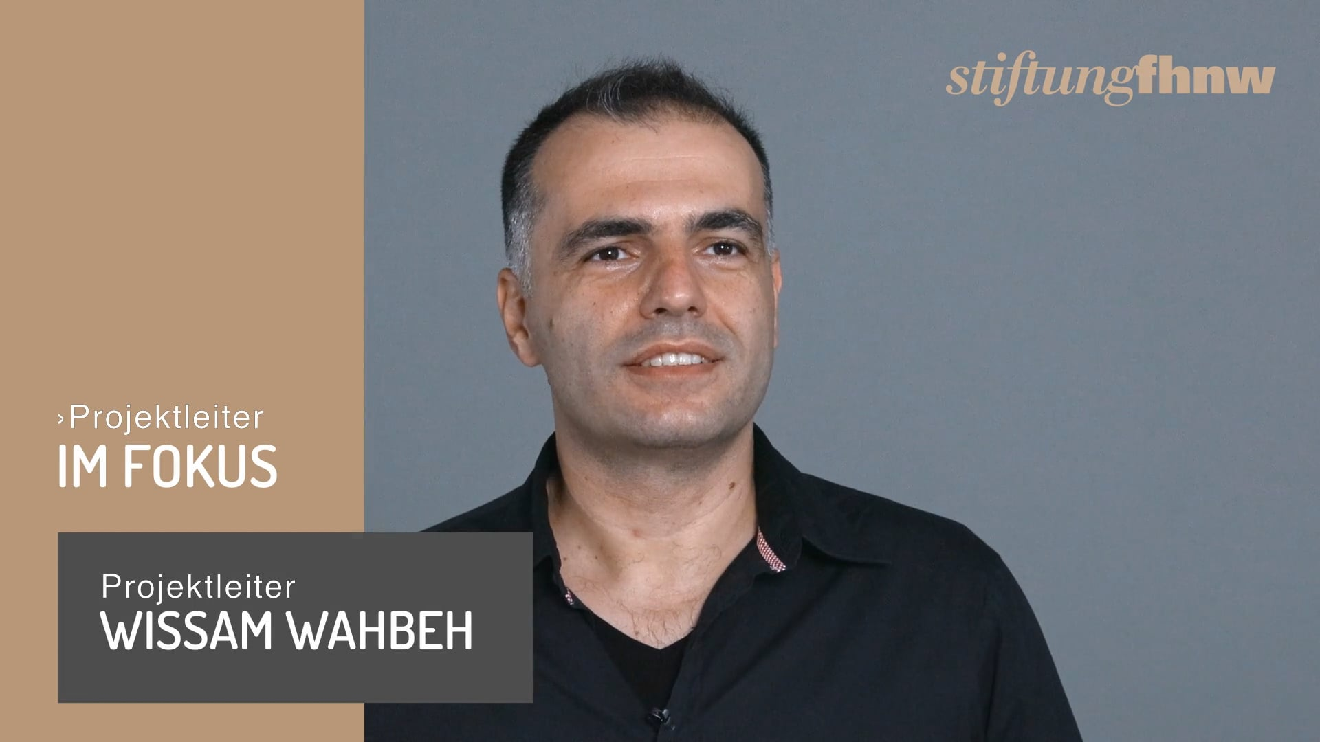 Projektleiter Wissam Wabeh – Zusammenarbeit – Stiftung FHNW