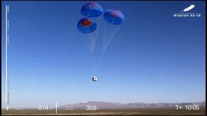 Nuovo successo per Blue Origin: il rientro della capsula