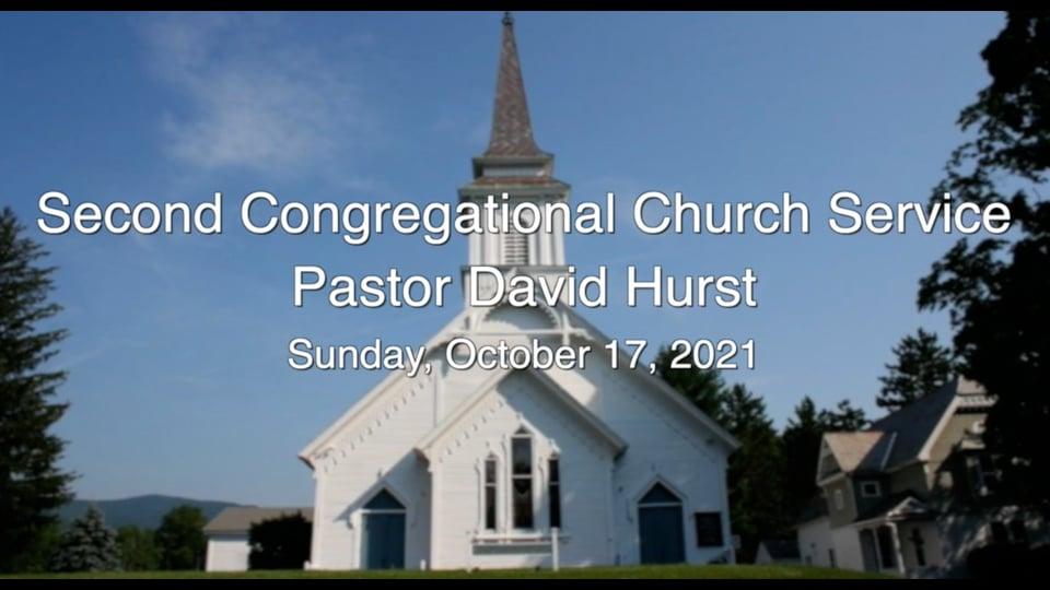 Second Congregational Church Service 10.17.21