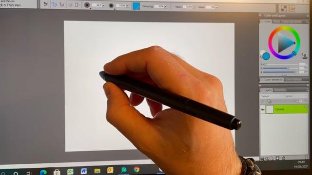 XP-Pen Artist 24 Pro graphic pen display writing tester
