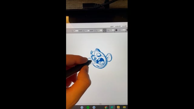 XP-Pen Artist 24 Pro graphic pen display drawing example