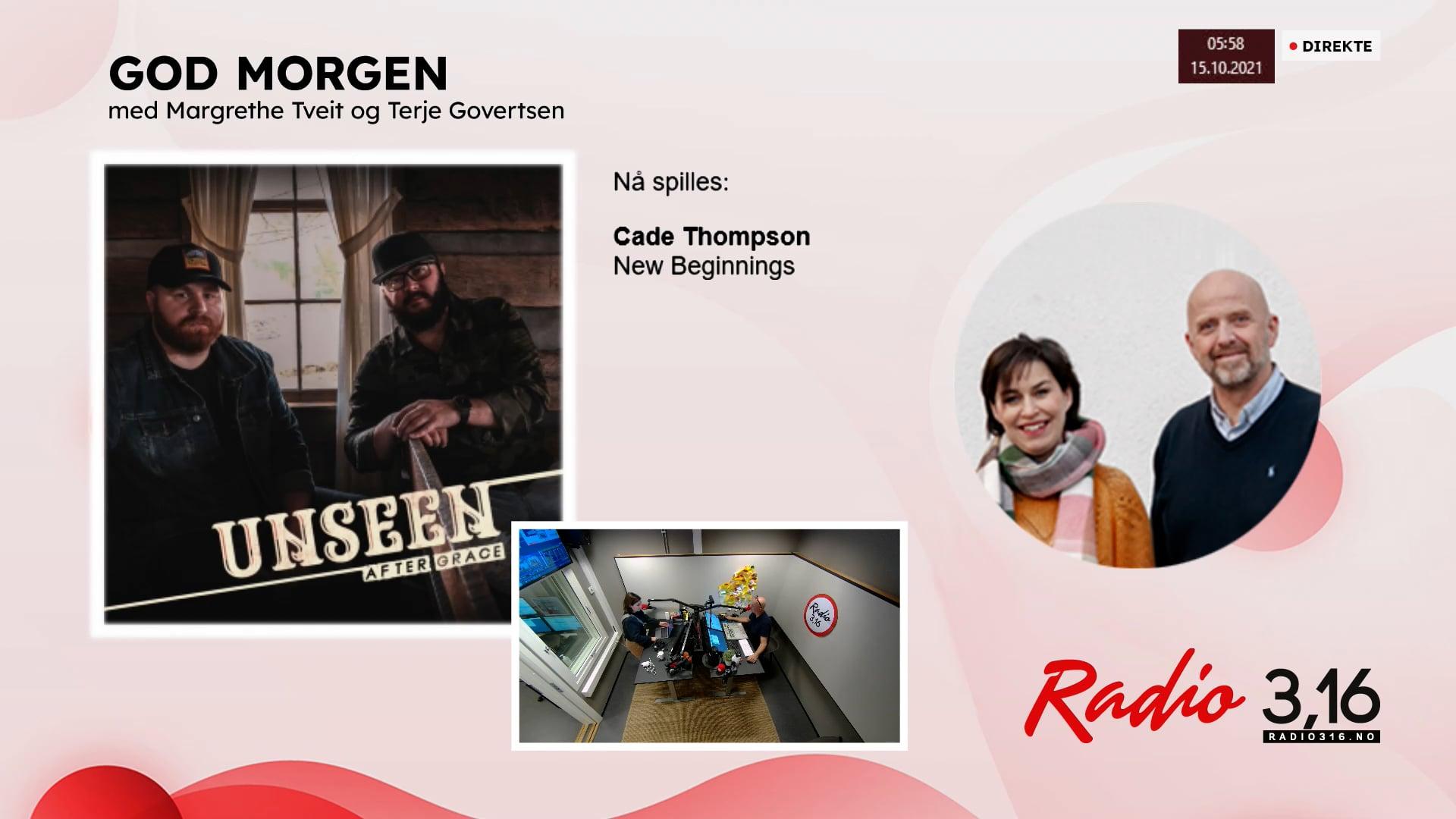Radio 3,16 | 15 oktober 2021 - God Morgen med Margrethe og Terje