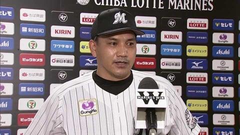10月15日 マリーンズ・井口資仁監督 試合後インタビュー