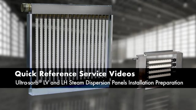 Ultra-sorb® LV and LH Steam Dispersion Panels Installation Preparation