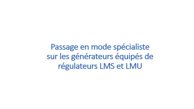 240676292 GMP - LMU LMS RVS - Mode spécialiste