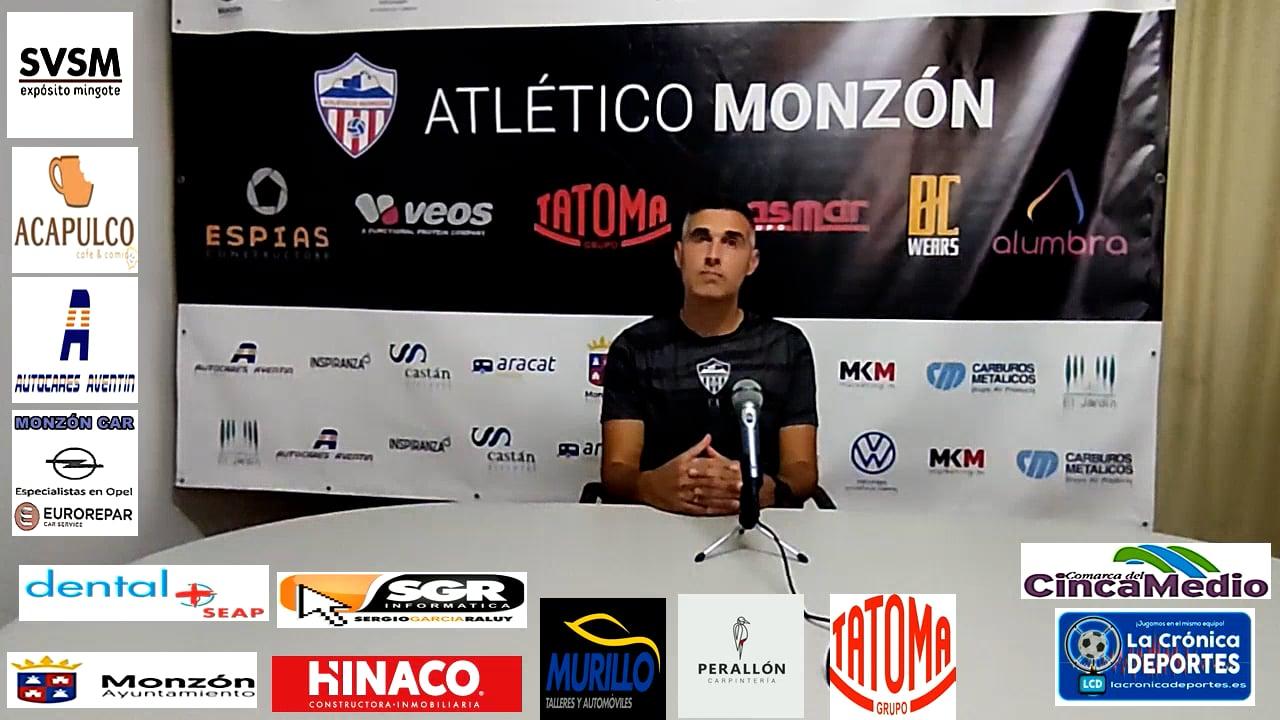 LA PREVIA / Monzón - Illueca / J 7 / Cristian Abad (Entrenador AT Monzón) 3ª División