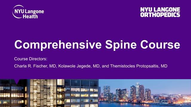 Comprehensive Spine Course – Webinar